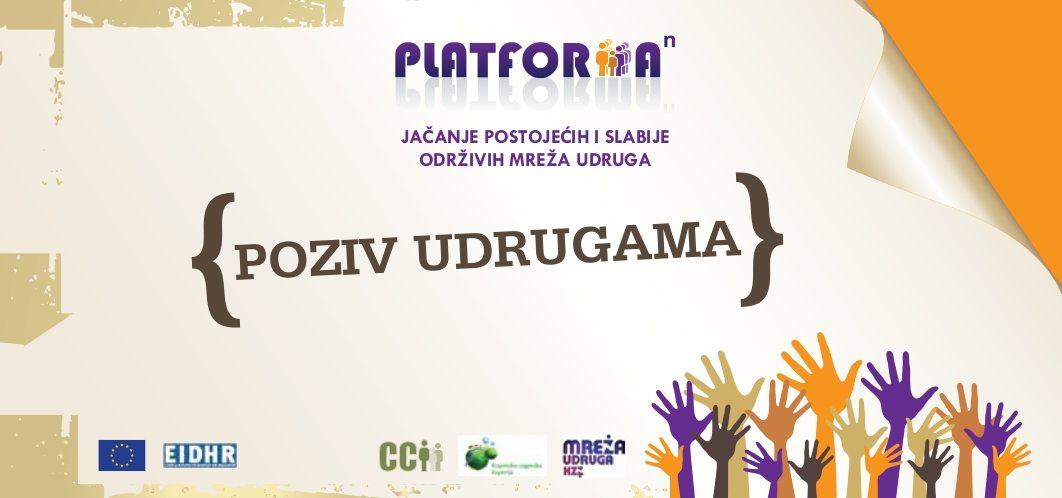 "Projekt ""Platforma na n-tu"" – poziv udrugama"