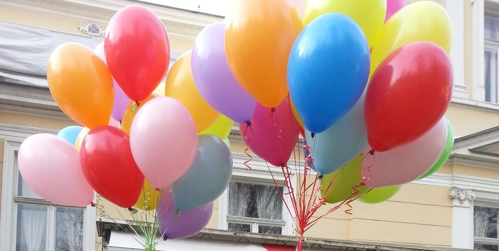 120 balloons over the city of Karlovac