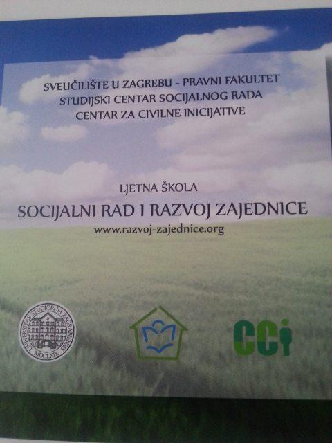 OBAVIJEST: Ljetna škola za socijalne radnike